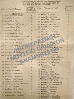 ΠΑΝΕΠΙΣΤΗΜΙΑΚΟ ΕΤΟΣ 1937-1938